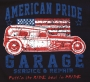 American Pride Garage Hot Rod T Shirt