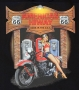 Americas Highway Route 66 pin up T Shirt