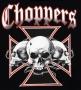 Barb Wire Skulls Chopper T Shirt