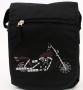 Canvas Shoulder Bag Purple Harley Dyna Glide