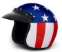 Captain America USA Old School Open Face Helmet