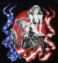 Chopper & Flag T Shirt
