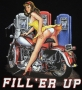 Fill 'Er Up Garage Pin Up Classic Harley Design T Shirt