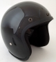 Glossy Black USA Old School Open Face Helmet