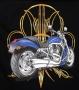 Harley V Rod & Pinstripe design T Shirt
