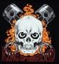 King of The Road Flaming Skull Sweatshirt