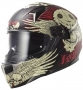 LS FULL FACE Wing Skull Graphic Red