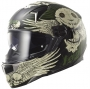 LS2 FULL FACE Wing Skull Graphic Green