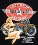 Last Stop Garage Classic Harley Pin Up T Shirt