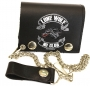 Lone Wolf Tri-Fold Chain Wallet
