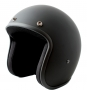 Matt Black USA Low Profile Old School Open Face Helmet