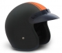 Matt Black & Orange Stripe  Low Profile Old School Open Face