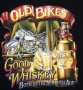 Old Bikes & Whisky Classic Harley Design T Shirt