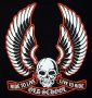 Old School Skull & Wings Live to Ride T Shirt