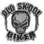 Old Skool Biker Skull Badge