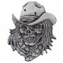 Rebel Cowboy Skull Pin Badge