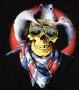 Rebel Cowboy Skull T Shirt