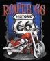 Route 66 Harley Rocker Design 'T Shirt